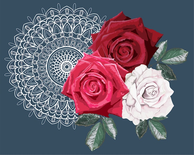 Buquê de rosas em renda