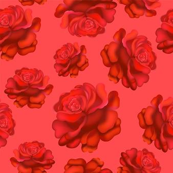 Buquê de rosas padrão de flores