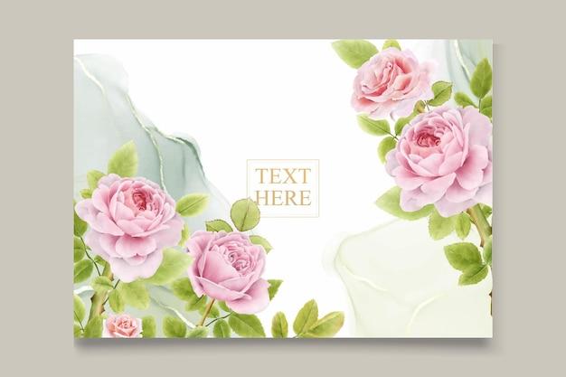Buquês de rosas em aquarela desenhados à mão