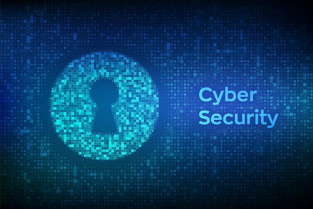 Buraco da fechadura digital. de segurança cibernética, firewall, segurança de rede, criptografia de dados.
