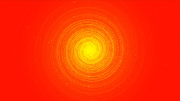 Buraco negro em espiral laranja no fundo da galáxia com a espiral da via láctea, universo e design de conceito estrelado,