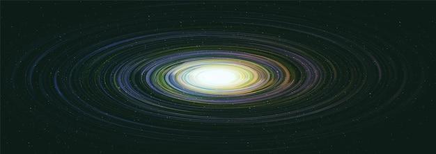 Buraco negro solar realista no fundo da galáxia