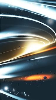 Buraco negro supermassivo abstrato em