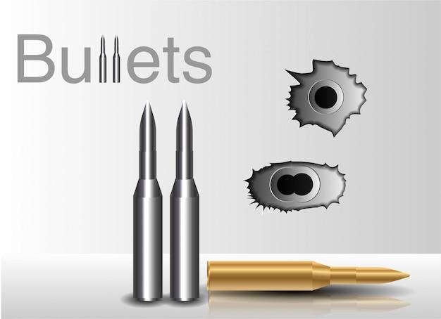 Buracos de bala. no contexto de uma bala