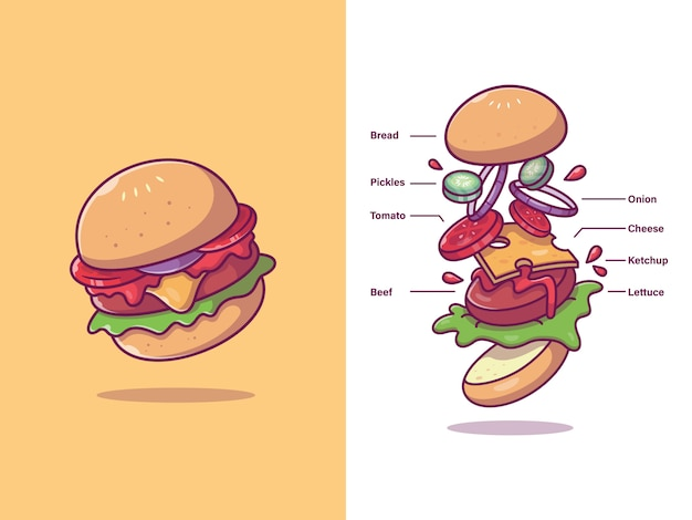 Burger ingredients alimentos