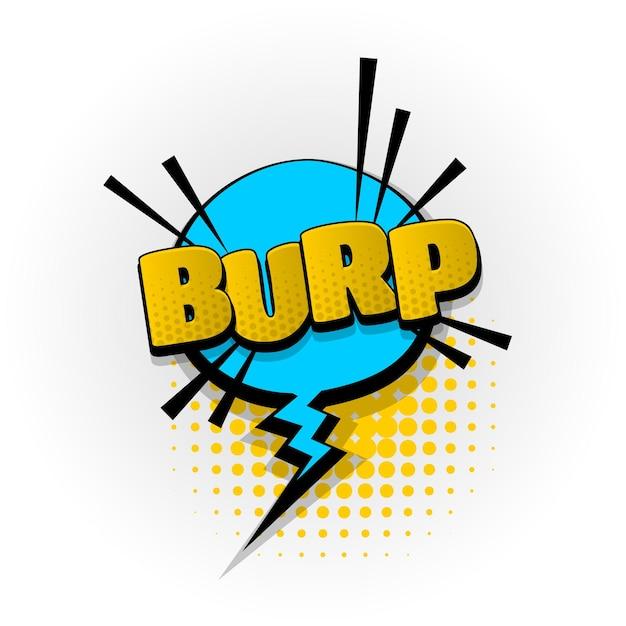 Burp parp som de quadrinhos efeitos de texto modelos quadrinhos balão de fala meio-tom estilo pop art