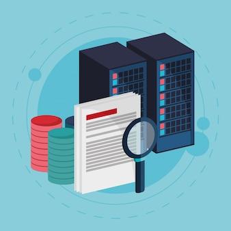 Busca no documento do processo do centro de dados