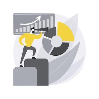 Business intelligence. análise de dados de negócios, ferramentas de gerenciamento, inteligência, desenvolvimento de estratégia empresarial, tomada de decisões com base em dados. Vetor grátis