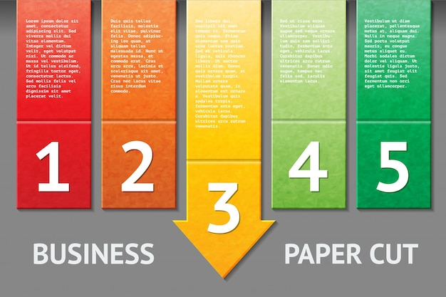 Business paper cut template
