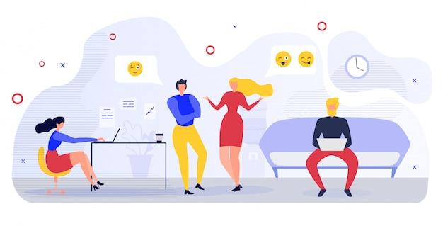 Business people office comunicação flat vector