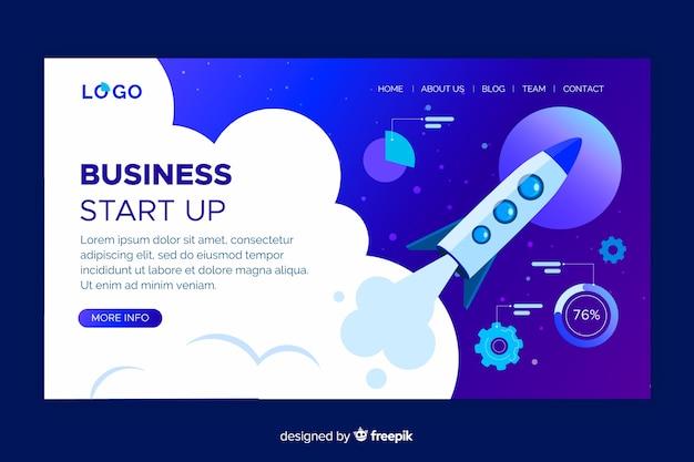 Business start up design da página de destino