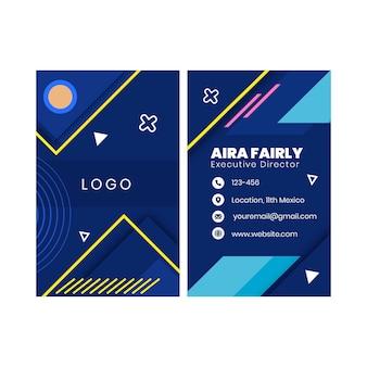Businesscard dupla face comercial geral h