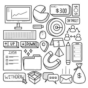 Bussines planeja doodle de comércio na internet