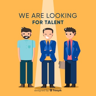 Bussinessman procurando fundo de talentos