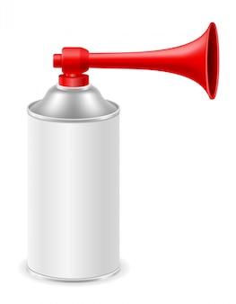 Buzina de ar para ilustração de sinais de resgate sos ou esportes