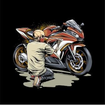 Bxdskull e motocicleta