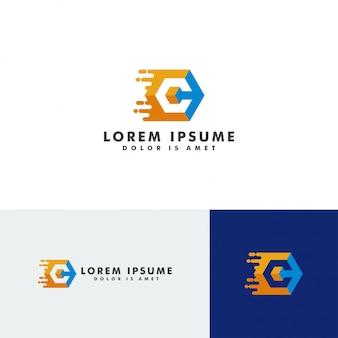 C carta logotipo modelo elemento vector illustration