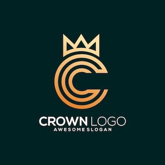 C com modelo de logotipo da coroa