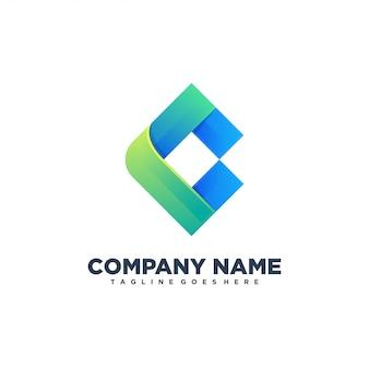 C logotipo abstrato inicial