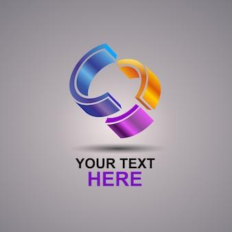C logotipo abstrato