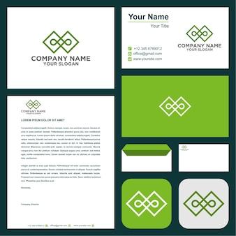 C logotipo da empresa com cartão de visita
