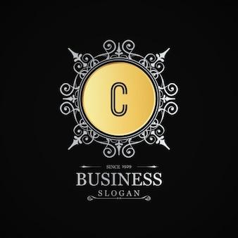C negócios logotipo floreio