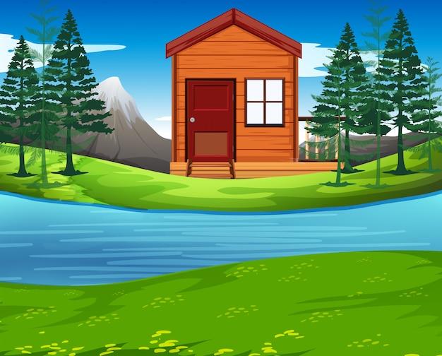 Cabana na natureza