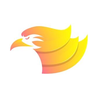 Cabeça águia cabeça abstrata