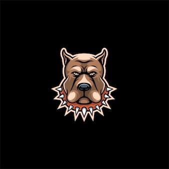 Cabeça bull dog logo.