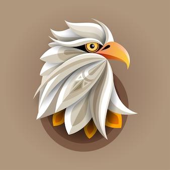 Cabeça de águia arte abstrata para impressão de pôster, impressão de camiseta, cartão postal
