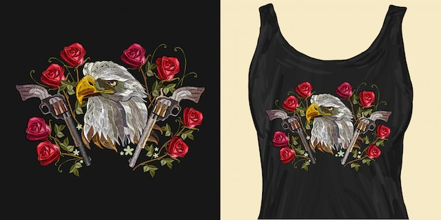 Cabeça de águia bordado
