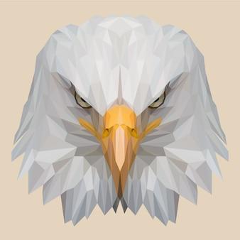 Cabeça de águia com estilo lowpoly