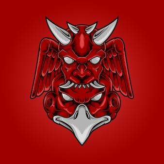 Cabeça de águia demoníaca