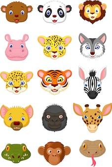 Cabeça de animais selvagens cartoon1