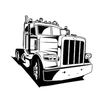 Cabeça de caminhão sillhouette