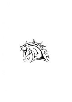 Cabeça de cavalo mustang laterais
