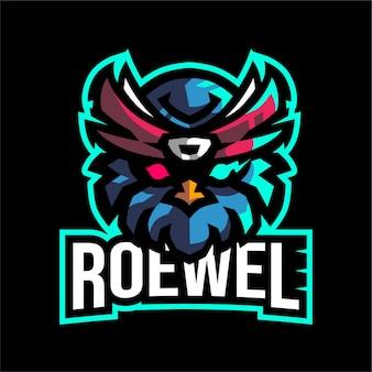Cabeça de coruja para o logotipo da equipe e-sport