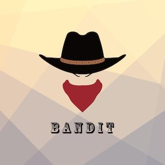 Cabeça de cowboy americana
