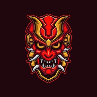 Cabeça de demônio com conceito de máscara