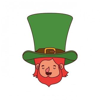 Cabeça de duende com personagem de avatar de chapéu