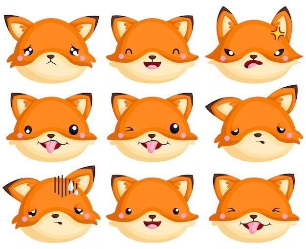 Cabeça de emoção de raposa