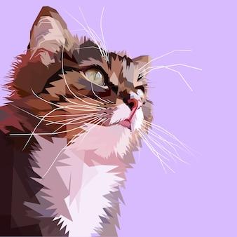 Cabeça de gato bonito