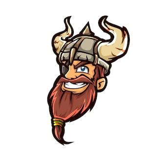 Cabeça de guerreiro lutador viking