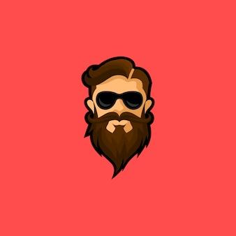 Cabeça de homem barbudo