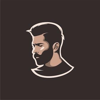 Cabeça de homem de barba