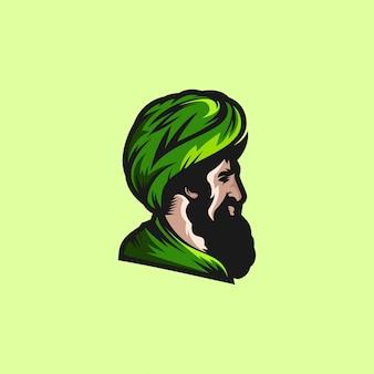 Cabeça de homem muçulmano