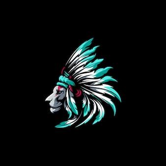Cabeça de leão apache