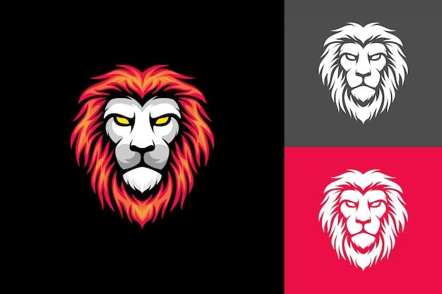 Cabeça de leão de cabelo vermelho