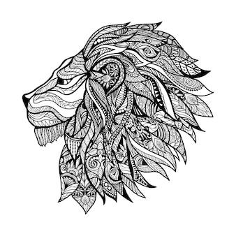 Cabeça de leão decorativa