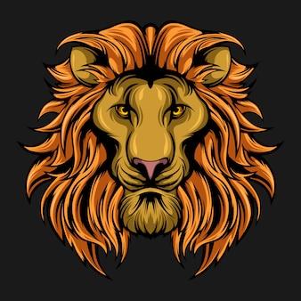Cabeça de leão impressionante